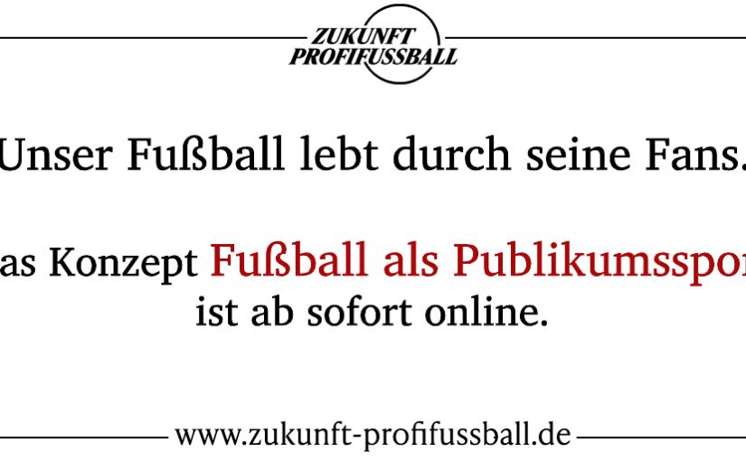 Konzept Fußball als Publikumssport