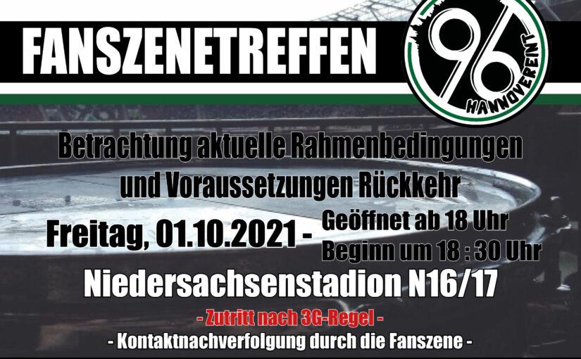 Fanszenetreffen im Niedersachsenstadion